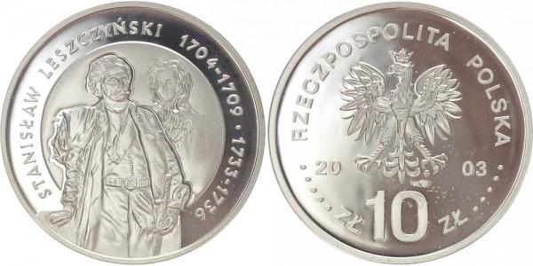 Polen 10 Zloty 2003 - Stanislaw Leszczynski