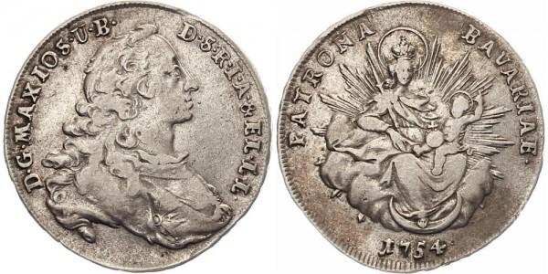 Bayern ½ Taler 1754 - Max Joseph