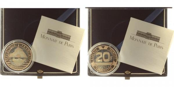 Frankreich 20 Francs 1992 - Mont St. Michel