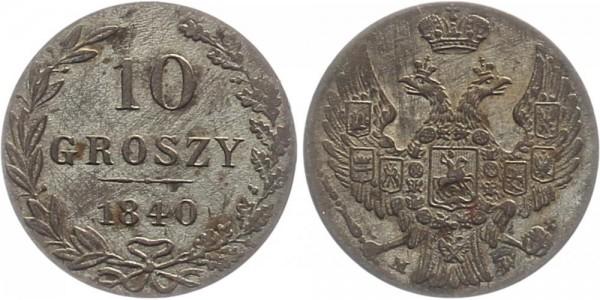 Polen 10 Groszy 1840