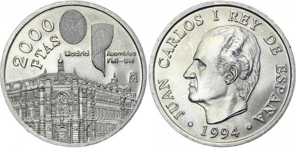 SPANIEN 2000 Pesetas 1994 - Internationaler Währungsfonds und Bank