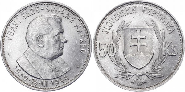 Slowakei 50 Kronen 1944 - Dr. Joseph Tiso