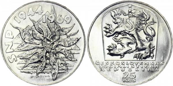 CSSR 25 Kč 1969 - 25 J. Aufstand SNP