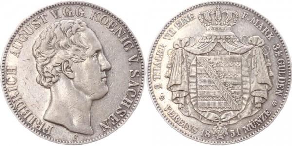 Sachsen Doppeltaler 1851 - Friedrich August