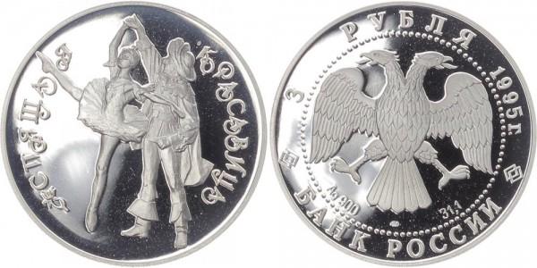 Russland 3 Rubel 1995 - Ballett