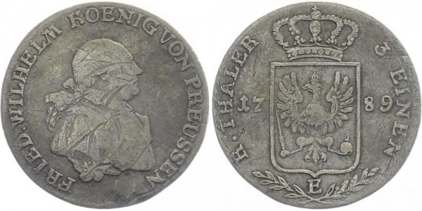 BRANDENBURG 1/3 Reichstaler 1789 E Kursmünze