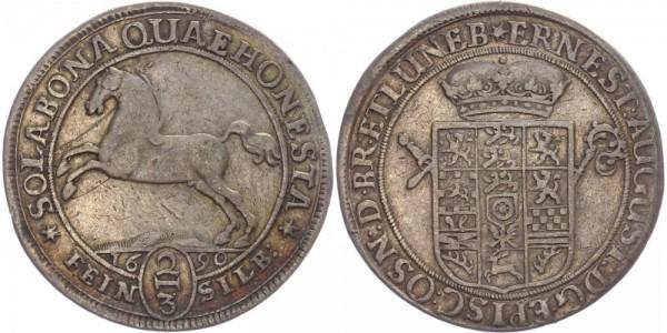 Braunschweig 2/3 Taler 1690 - Ernst August, Pferd