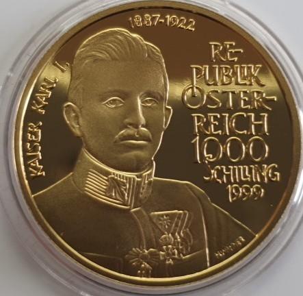 Österreich 1000 Schilling 1999 Kaiser Karl I.