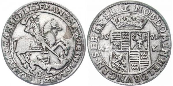 Mansfeld 1/3 Taler 1671 - Franz Maximilian und Heinrich Franz