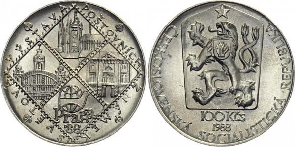 CSSR 100 Kč 1988 - Briefmarkenausstellung Prag