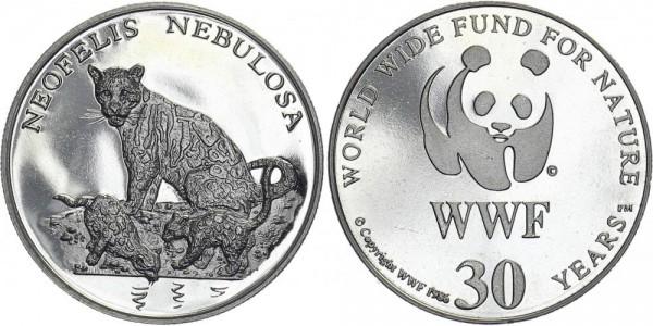 WWF Medaille 1986 - Nebelparder