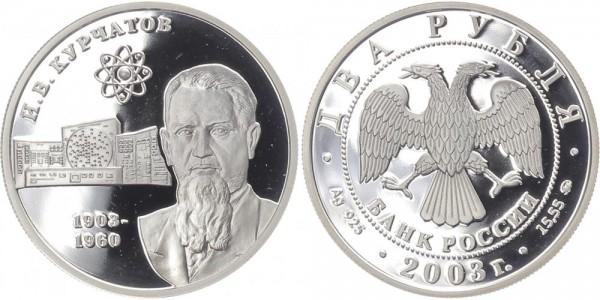 Russland 2 Rubel 2003 - I.V. Kurcatov