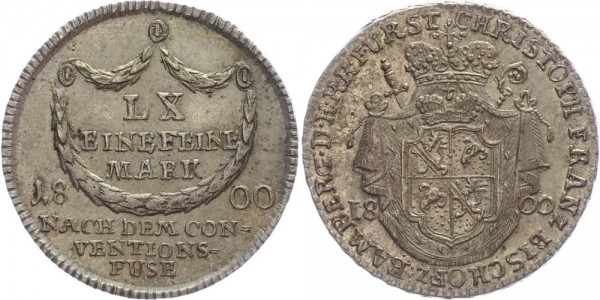 Bamberg 1/4 Taler (20 Kreuzer) 1800 - Christoph Franz v. Buseck