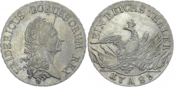 BRANDENBURG 1 Reichstaler 1785 A Kursmünze