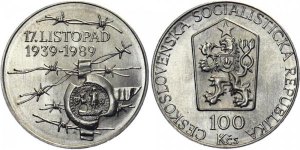CSSR 100 Kč 1989 - Studententag