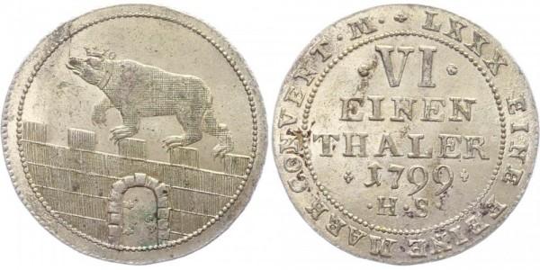 Anhalt-Bernburg 1/6 Taler 1799