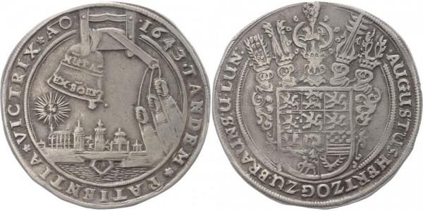 Braunschweig-Wolfenbüttel 7. Glockentaler 1643 - August der Jüngere 1635-1666