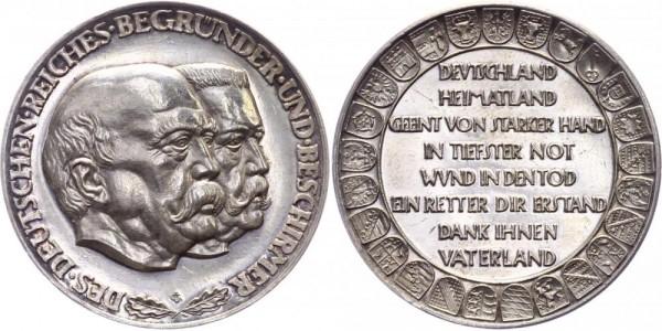 Deutsches Reich Medaille o.J. (1930) Preuss. Staatsmünze Auf die Begründer und Beschirmer des deutsc