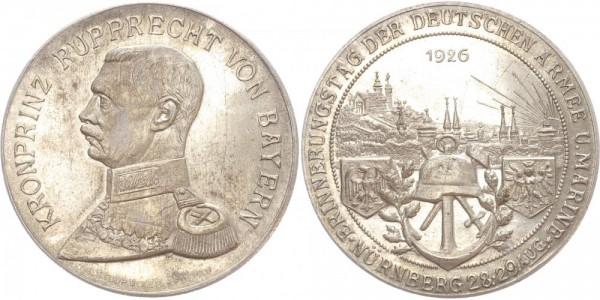 Nürnberg Medaille 1926 - Kronprinz Rupprecht v. Bayern