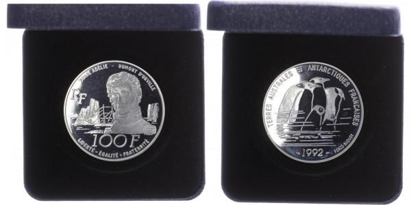 Frankreich 100 Francs 1992 - Jules Dumont d'Urville