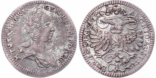 Österreich 1 Kreuzer 1753 - Kursmünze