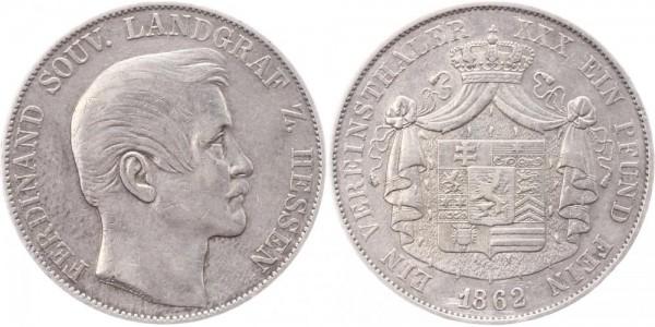 Hessen-Homburg Taler 1862 - Ferdinand