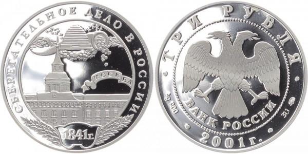 Russland 3 Rubel 2001 - 1. Sparkasse 1841