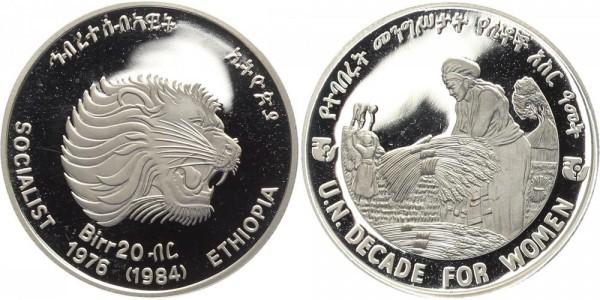 Äthiopien 20 Birr 1984 - Jahrzehnt der Frau, Auflage 372 Stück!