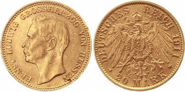 Hessen 20 Mark 1911 - Ernst Ludwig