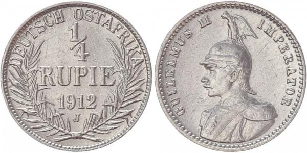 Deutsch Ostafrika 1/4 Rupie 1912