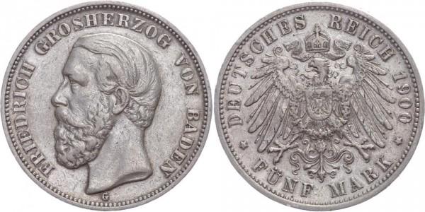 Baden 5 Mark 1900 - Friedrich