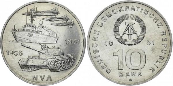 DDR 10 Mark 1981 A 25 Jahre Volksarmee