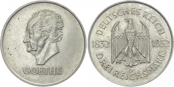 Weimarer Republik 3 Mark 1932 J Goethe
