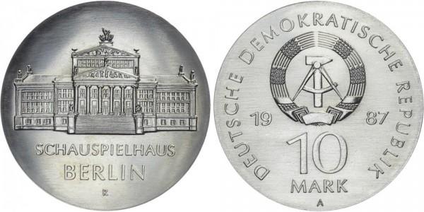 DDR 10 Mark 1987 A Schauspielhaus Berlin