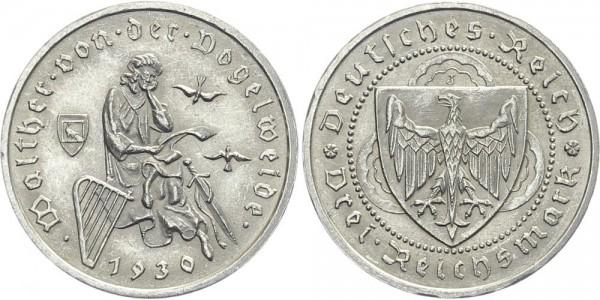 Weimarer Republik 3 Mark 1930 J Walther von der Vogelweide