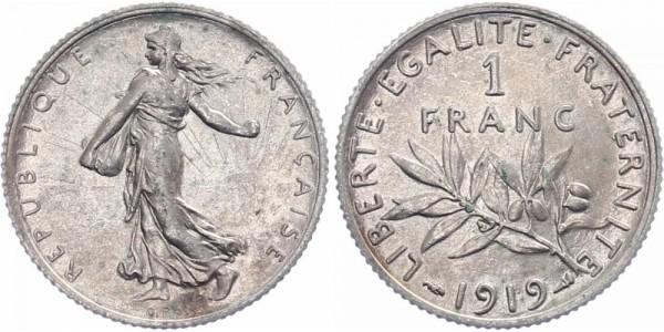 Frankreich 1 Franc 1919 - Kursmünze