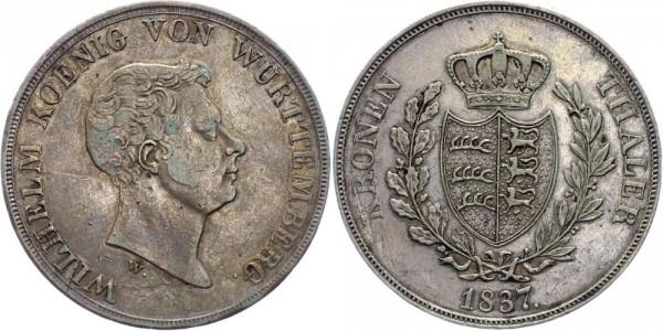 Württemberg Kronentaler 1837 - Wilhelm I. 1816-1864