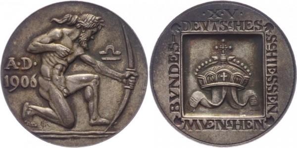 Deutschland/München Medaille 1906 G. Roemer 15. Deutsches Bundesschießen in München
