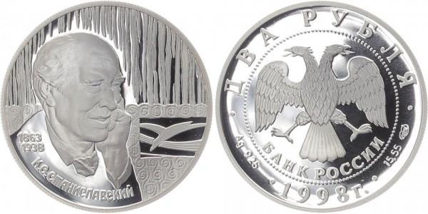 Russland 2 Rubel 1998 - K.S. Stanislavskij