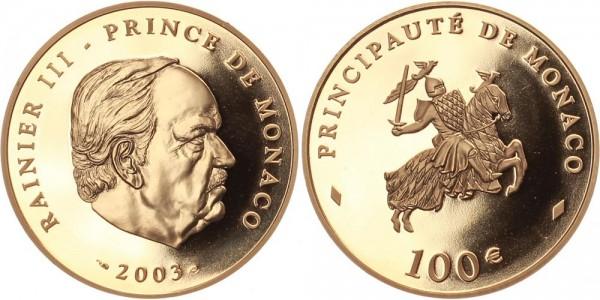 Monaco 100 Euro 2003 - Rainier III.