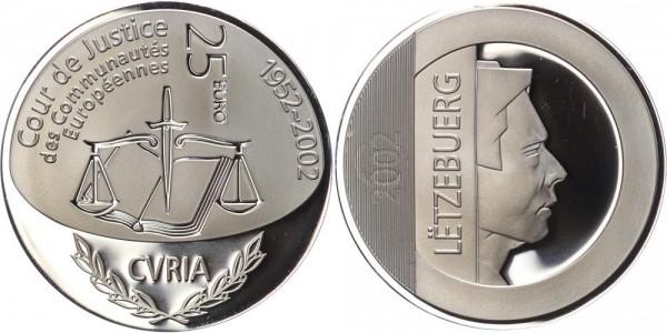 Luxemburg 25 Euro 2002 50 Jahre Europäischer Gerichtshof Henri I. PP