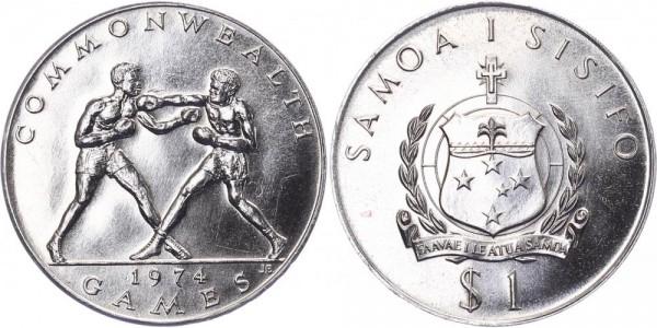 Samoa 1 Tala 1974 - 10 Jahre Commonwealth - Boxer