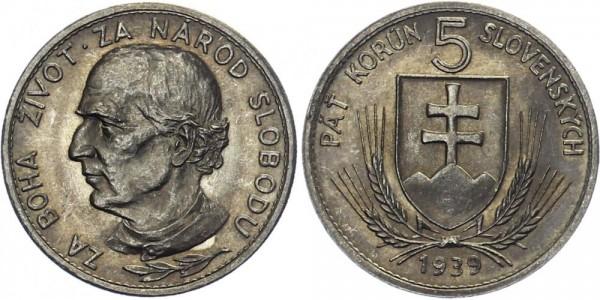 Slowakei 5 Ks 1939 - Andrej Hlinka