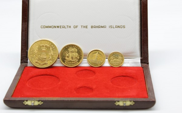 Bahamas 180 Dollar 1971 4er Set inkl. original Etui