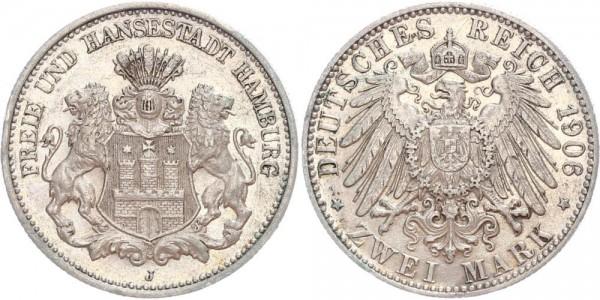 Hamburg 2 Mark 1906 J Freie und Hansestadt