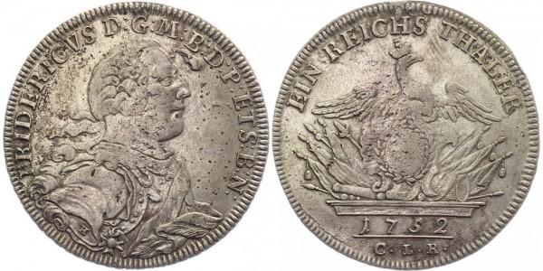 Preussen 1 Taler 1752 - Friedr. Wilhelm II.