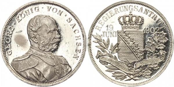 Sachsen Medaille 1902 - Auf seinen Regierungsantritt