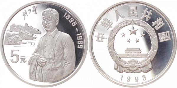 China 5 Yuan 1993 - Politiker Liu Shaoqi