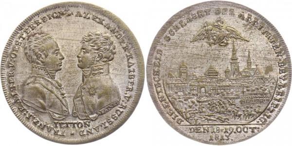 Russland Medaille/Jeton 1813 - Alexander I. 1801-1825, Auf die Völkerschlacht bei Leipzig