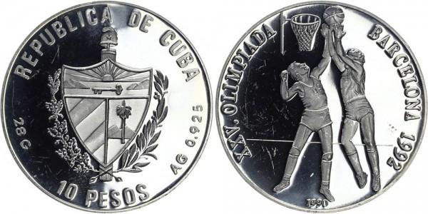 KUBA 10 Pesos 1990 - Olympische Spiele